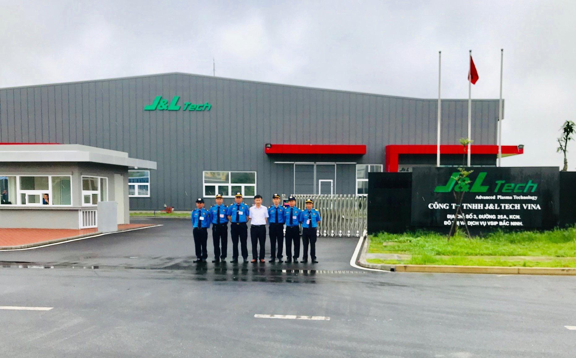 Triển khai dịch vụ bảo vệ chuyên nghiệp tại Công ty TNHH J&L TECH VINA  tại KCN VSIP Bắc Ninh
