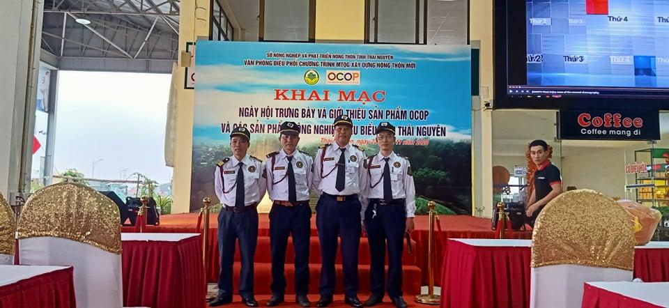 Triển khai dịch vụ bảo vệ chuyên nghiệp tại sự kiện trưng bày và giới thiệu các sản phẩm nông nghiệp tiêu biểu tại Thái Nguyên.