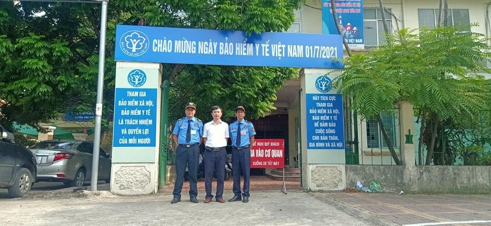Triển khai dịch vụ bảo vệ chuyên nghiệp tại Bảo Hiểm Xã Hội Huyện Sóc Sơn.
